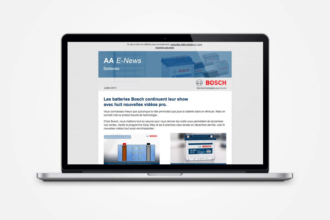 Bosch Automotive B2B online communication